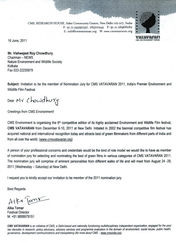 Naturewildlife letter of appreciation stopboris Gallery