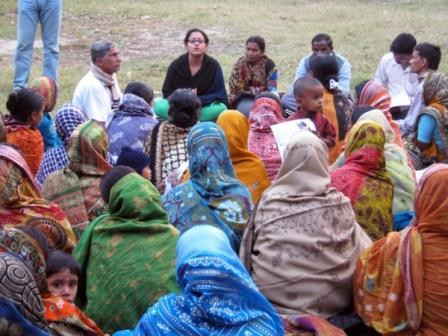 Identification of Poor household in Para meeting.